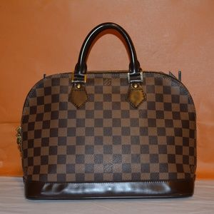 Louis Vuitton  Alma Brown Damier Ebene Satchel
